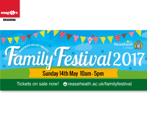 Large banner for Reaseheath College Family Festival 2017