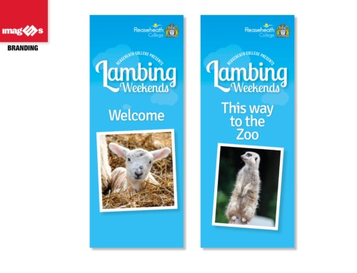 Outdoor stretch banner for Reaseheath College Lambing Show 2017